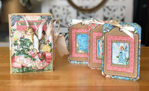 Graphic 45 Joy to the World Angelic Altered Book Box