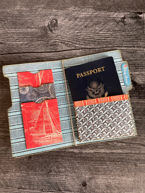 Graphic 45  Catch of the Day Travel Folio Album & Passport Holder 2021 Monthly Project Volume 5