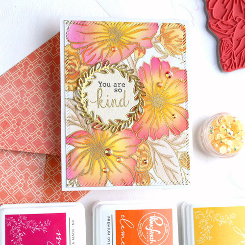 PinkFresh Studio Floral Focus Layering Stencil Set