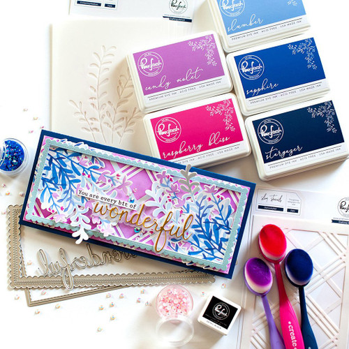 PinkFresh Studio Enchanting Meadows Layering Stencil Set