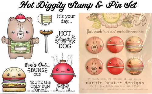 Darcie's Heart & Home Hot Diggity Stamp & Pin Set