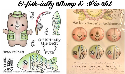 Darcie's Heart & Home O-fish-ially Stamp & Pin Set