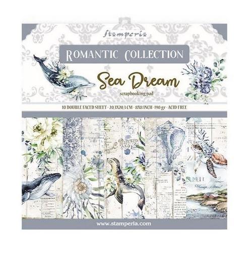 """Stamperia Romantic Sea Dream 8"""" x 8"""" Paper Collection"""