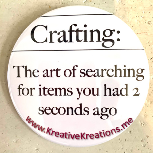 """""""Crafting Definition"""" Pin-Back Button"""