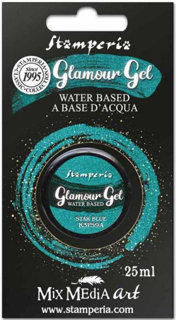 Stamperia Glamour Gel Star Blue