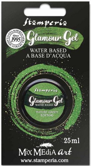 Stamperia Glamour Gel Nature Green