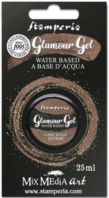 Stamperia Glamour Gel Dark Wood