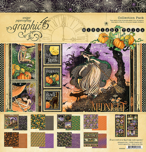 """Graphic 45 Midnight Tales 12"""" x 12"""" Collection Pack"""