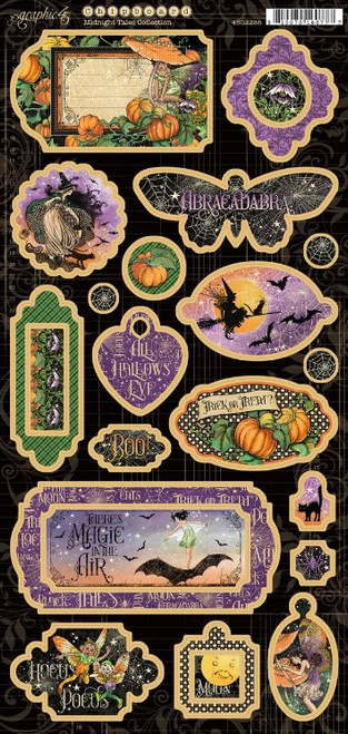 Graphic 45 Midnight Tales Chipboard