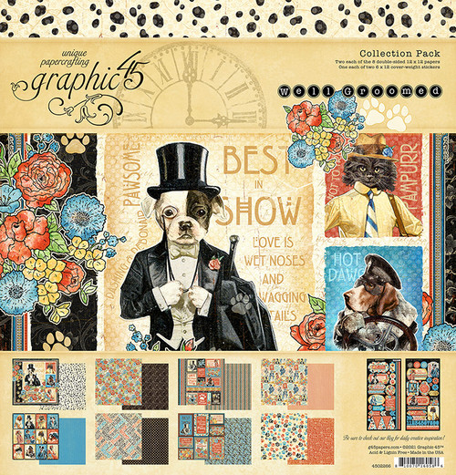 """Graphic 45 Well Groomed 12"""" x 12"""" Collection Pack"""