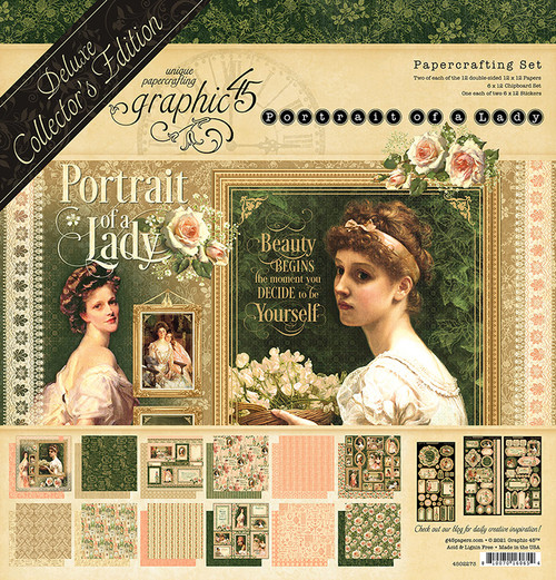 """Graphic 45 Portrait of a Lady 12"""" x 12"""" Deluxe Collector's Edition"""