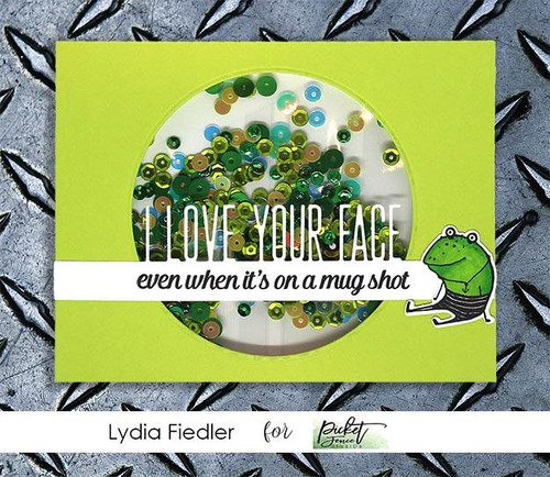 Picket Fence Studios I love Your Face Word Topper Die