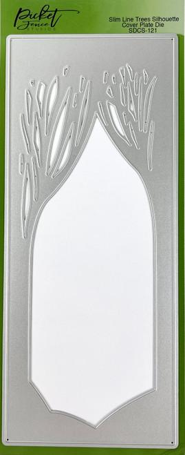 Picket Fence Studios 4 x 10 Slim Line Trees Silhouette Cover Plate  Die
