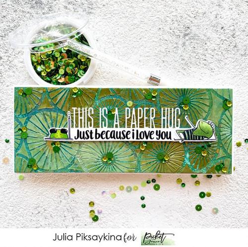 Picket Fence Studios Slim Line Lily Pads Stencil