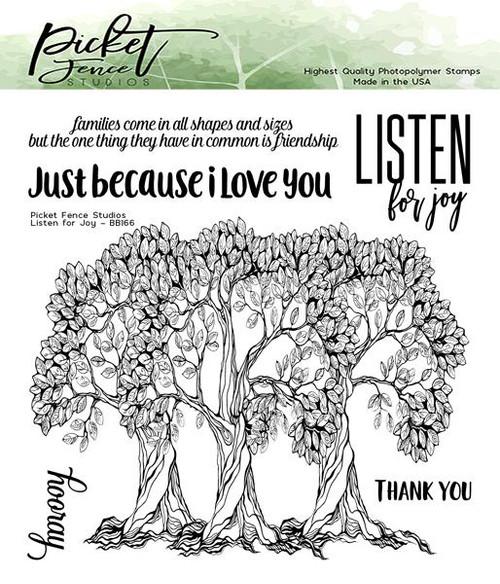 Picket Fence Studios Listen for Joy Stamp Set