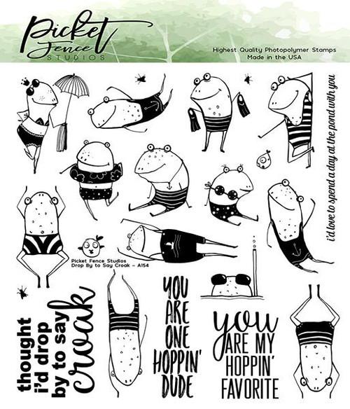 Picket Fence Studios Drop by to Say Croak Stamp Set