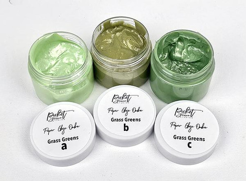 Picket Fence Studios Paper Glaze Ombre 3 Pack Grass Greens