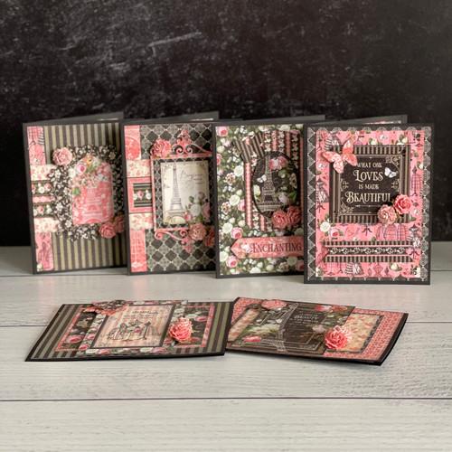 Graphic 45 Elegance Floral Card Set 2021 Monthly Card Kit Volume 6
