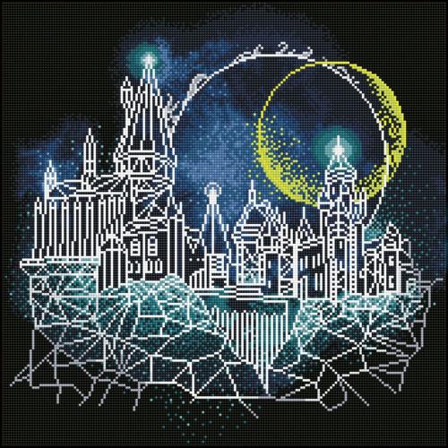 Camelot Diamond Dotz Harry Potter Moon Over Hogwarts