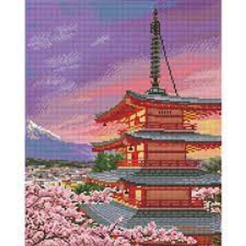 Diamond Dotz Chinese Pagoda - Thomas Kinkade