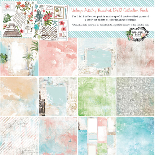 49 and Market Vintage Artistry Beached 12 x 12 Collection Pack