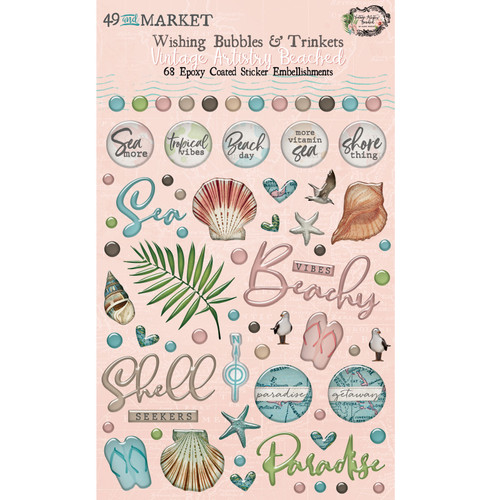 49 and Market Vintage Artistry Beached Wishing Bubbles and Trinkets
