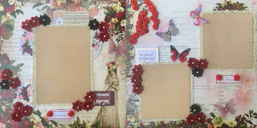 Vintage Lady 2-Page Layout