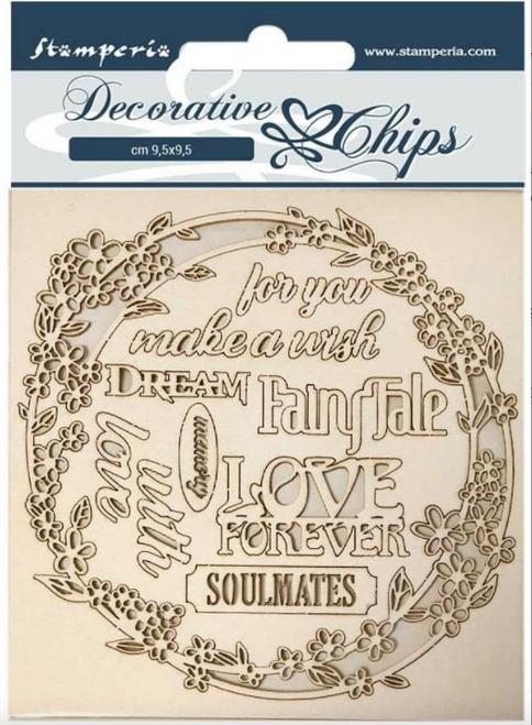 Stamperia Decorative Chips  - Sleeping Beauty GarlandLlove