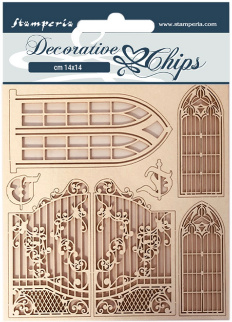 Stamperia Decorative Chips - Sleeping Beauty Window and Doors