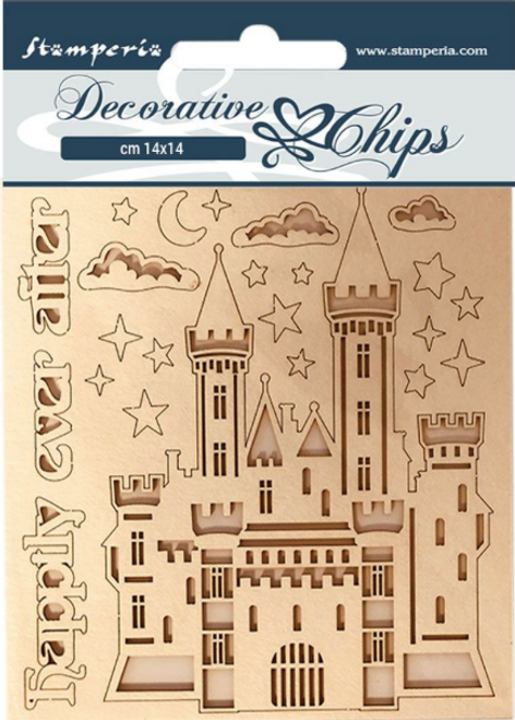 Stamperia Decorative Chips  - Sleeping Beauty Castle