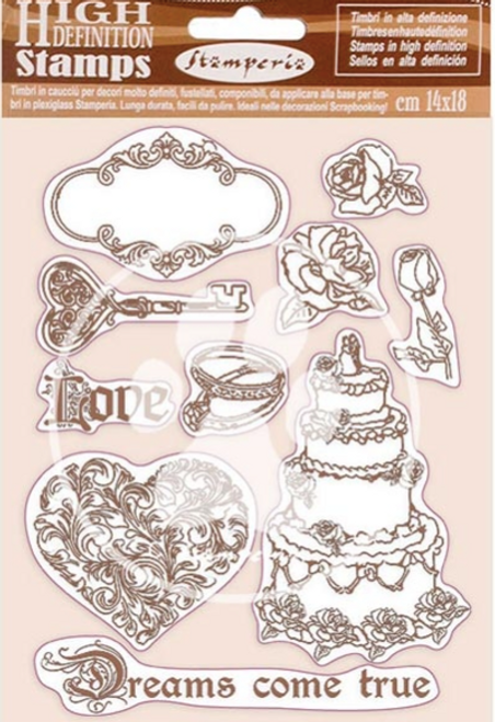 Stamperia HD Natural Rubber Stamp  - Sleeping Beauty Dreams Came True
