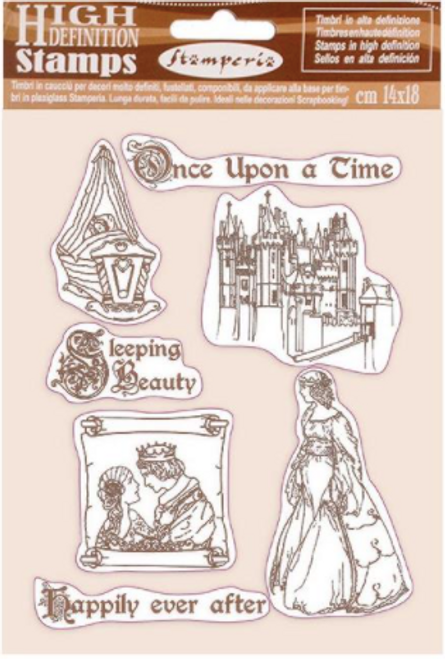 Stamperia HD Natural Rubber Stamp  - Sleeping Beauty Once Upon a Time