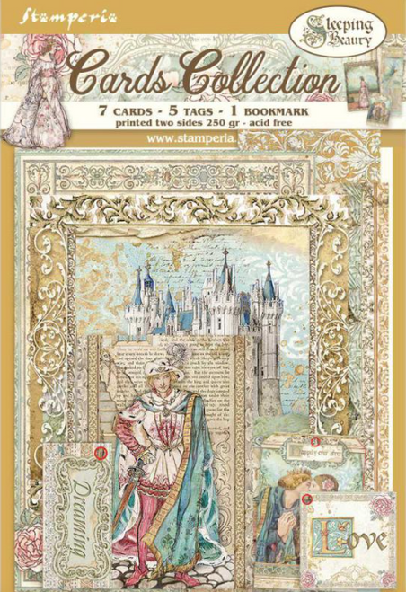 Stamperia Cards Collection - Sleeping Beauty