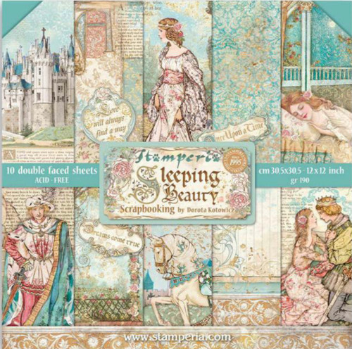 """Stamperia Sleeping Beauty (12""""x12"""") Double Face Paper Pack"""