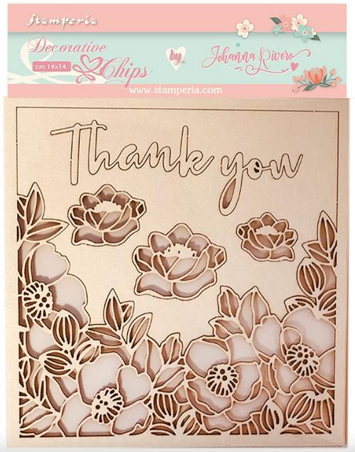 Stamperia Decorative Chips - Celebration Thank You
