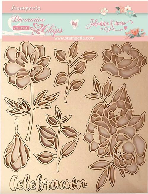 Stamperia Decorative Chips - Celebration