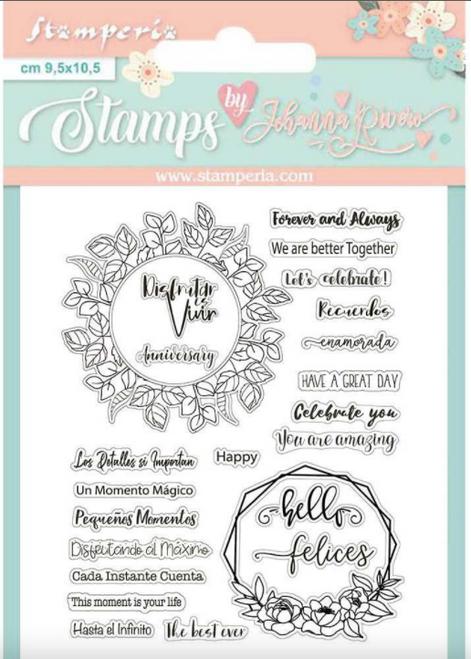 Stamperia Acrylic Stamp - Celebration Quotes