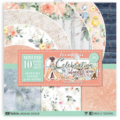 """Stamperia Celebration 8"""" x 8"""" Paper Collection"""