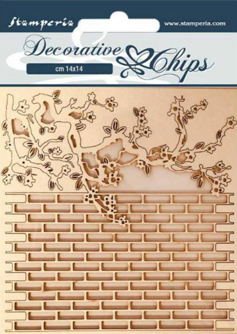 Stamperia Decorative Chips  -  Alice Wall