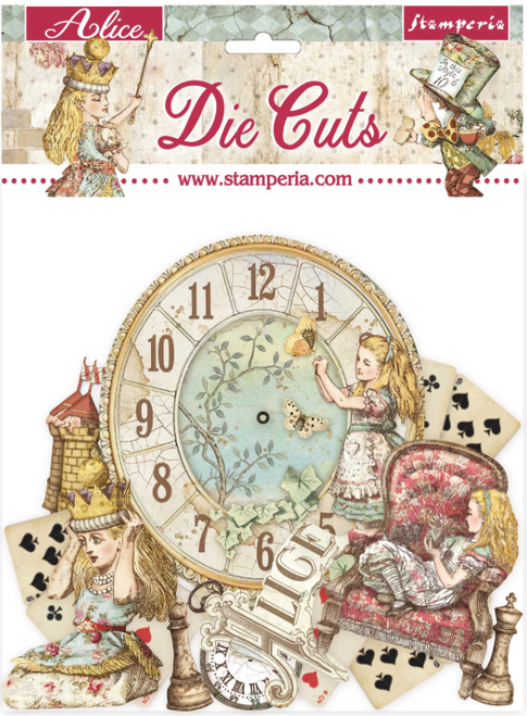 Stamperia Die Cuts Assortment - Alice Through The Looking Glass