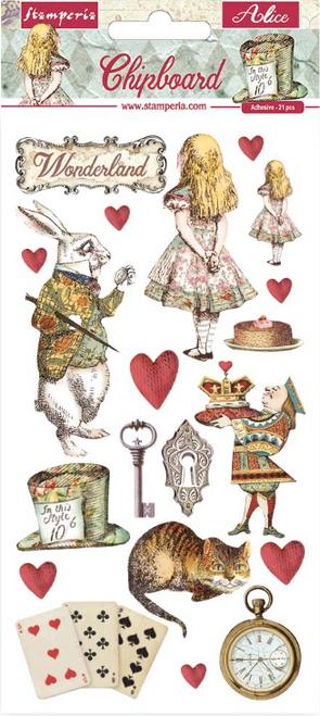 Stamperia Chipboard  - Alice In Wonderland