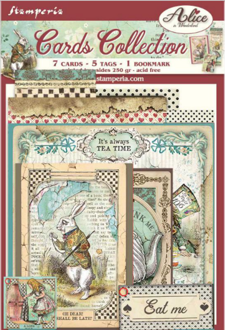 Stamperia Cards Collection - Alice In Wonderland