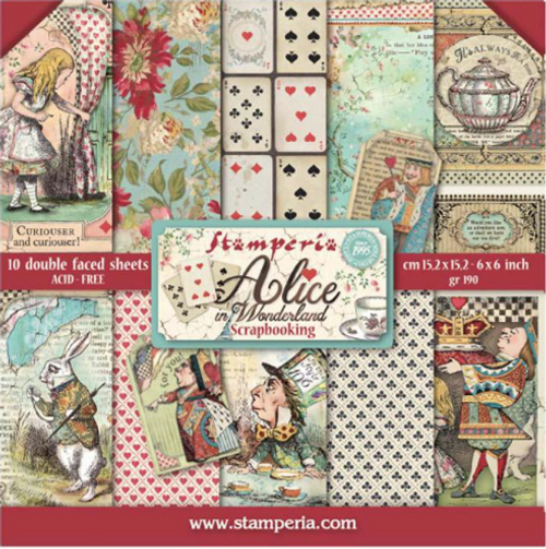Stamperia Double Face 6''x6'' Pad - Alice In Wonderland