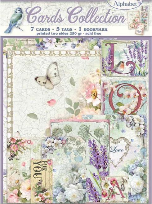 Stamperia Cards Collection - Flower Alphabet