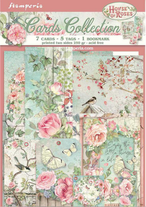 Stamperia Cards Collection - House of Roses