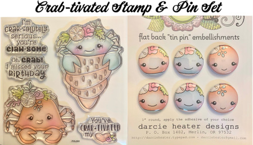 Darcie's Heart & Home Crab-tivated Stamp & Pin Set