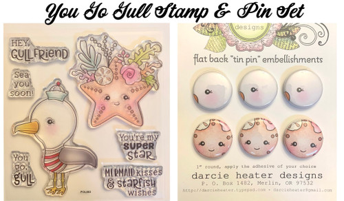 Darcie's Heart & Home You Go GullStamp & Pin Set