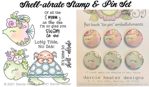 Darcie's Heart & Home Shell-abrate Stamp & Pin Set