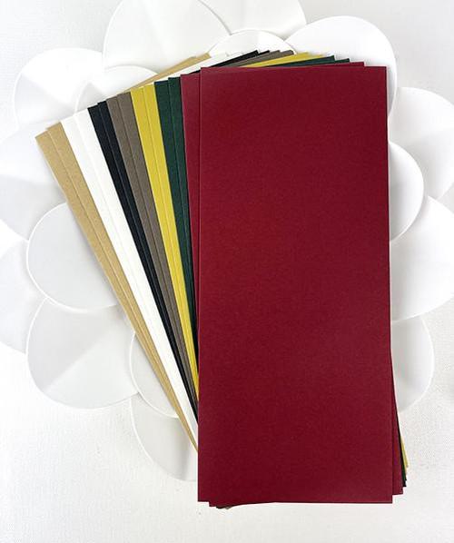 Picket Fence Studios Slim Line Traditional Christmas Envelopes