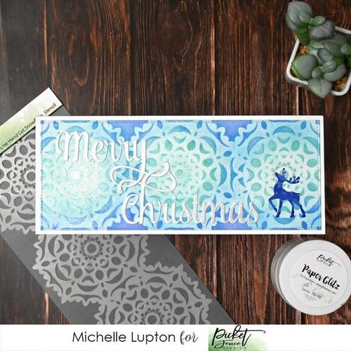 Picket Fence Studios Slim Line Hand Cut Snowflake Stencil
